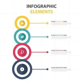 カラフルな抽象的なビジネスインフォグラフィックテンプレート