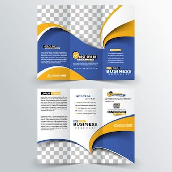 Abstract corporate trifold