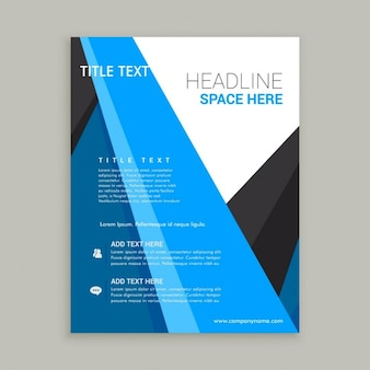 Abstract corporative brochure template