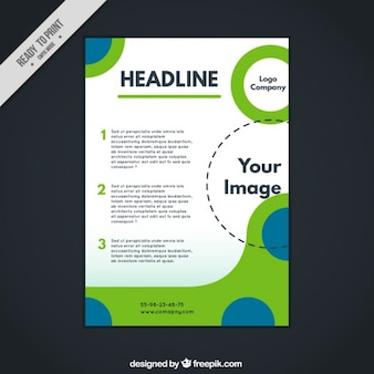 Abstract corporative brochure with circles