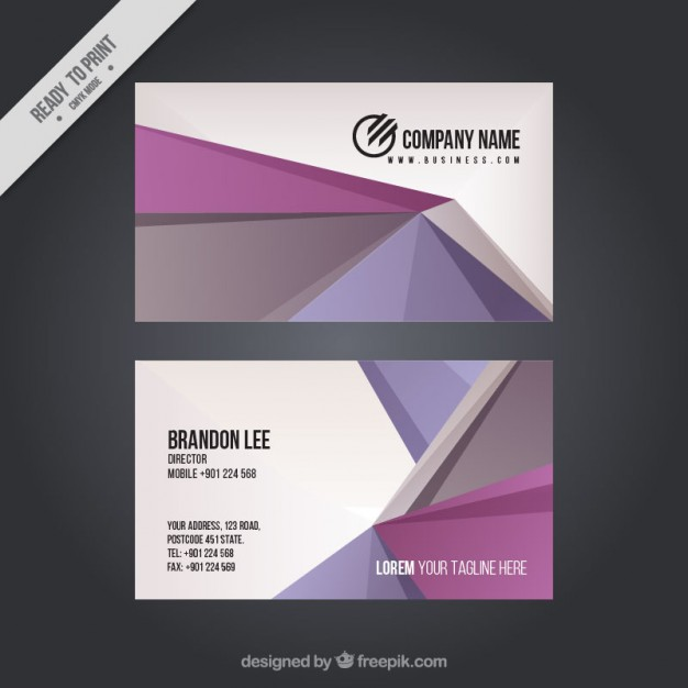 Abstract corporative card in purple tones