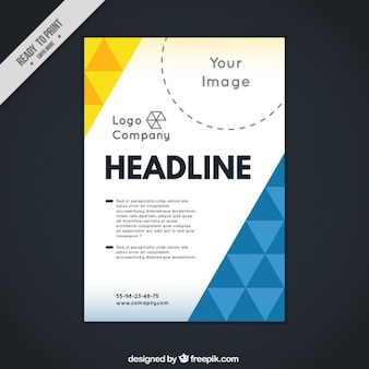 Abstract corporative leaflet with triangles
