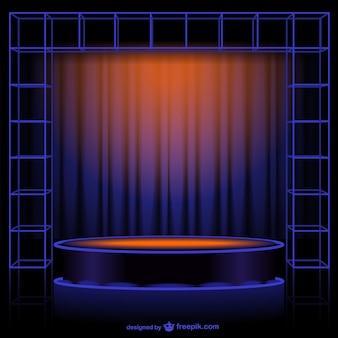 Abstract curtain vector
