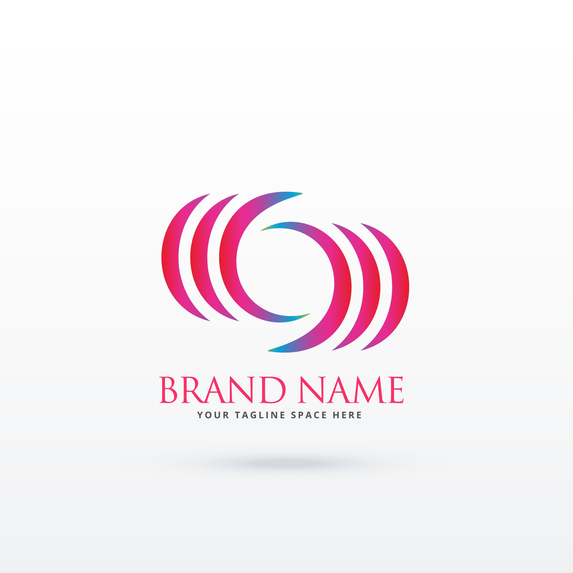 Abstract curvy logo design