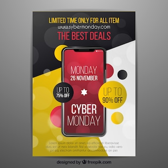 Abstract cyber monday poster