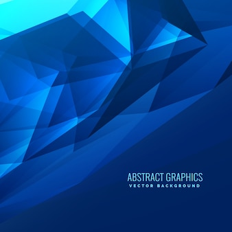 Abstract dark blue geometrical triangle background