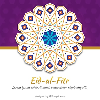 Abstract decorative background of eid-al-fitr