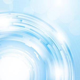 青の色合いで抽象的なデザインの背景