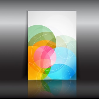 Abstract design flyer with circles