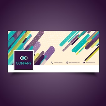 Abstract design for facebook timeline cover