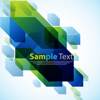 abstract design green and blue background vector