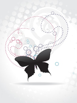 Abstract design with butterfly silhouette