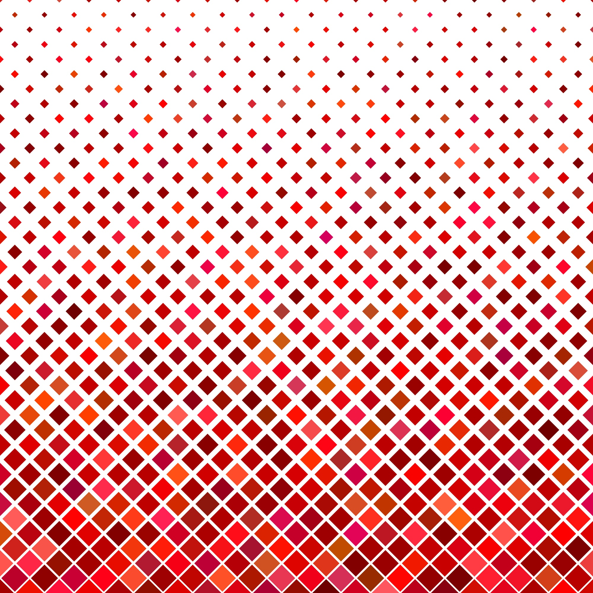 Abstract diagonal square pattern background - geometric vector graphic from squares in red tones