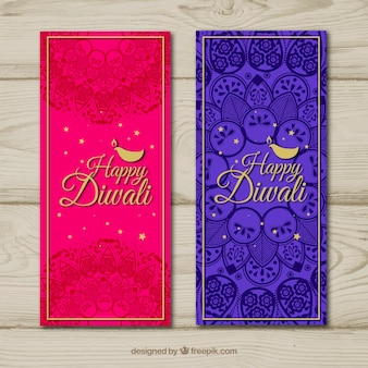 Abstract diwali banners