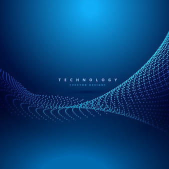 Abstract dots mesh wave technology background