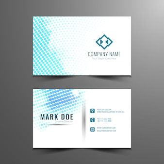 Abstract dots pattern business card