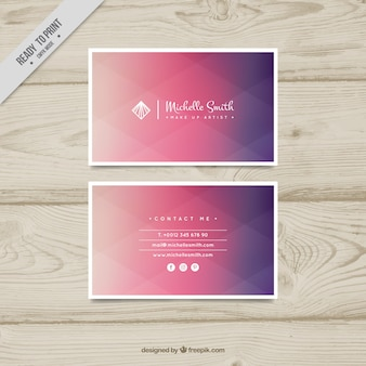 Abstract elegant corporate card with gradient