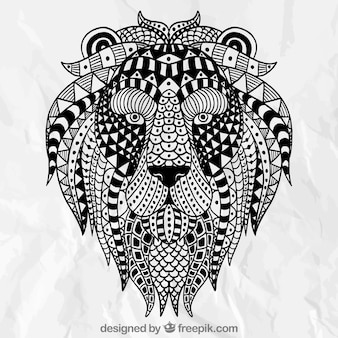Abstract ethnic lion