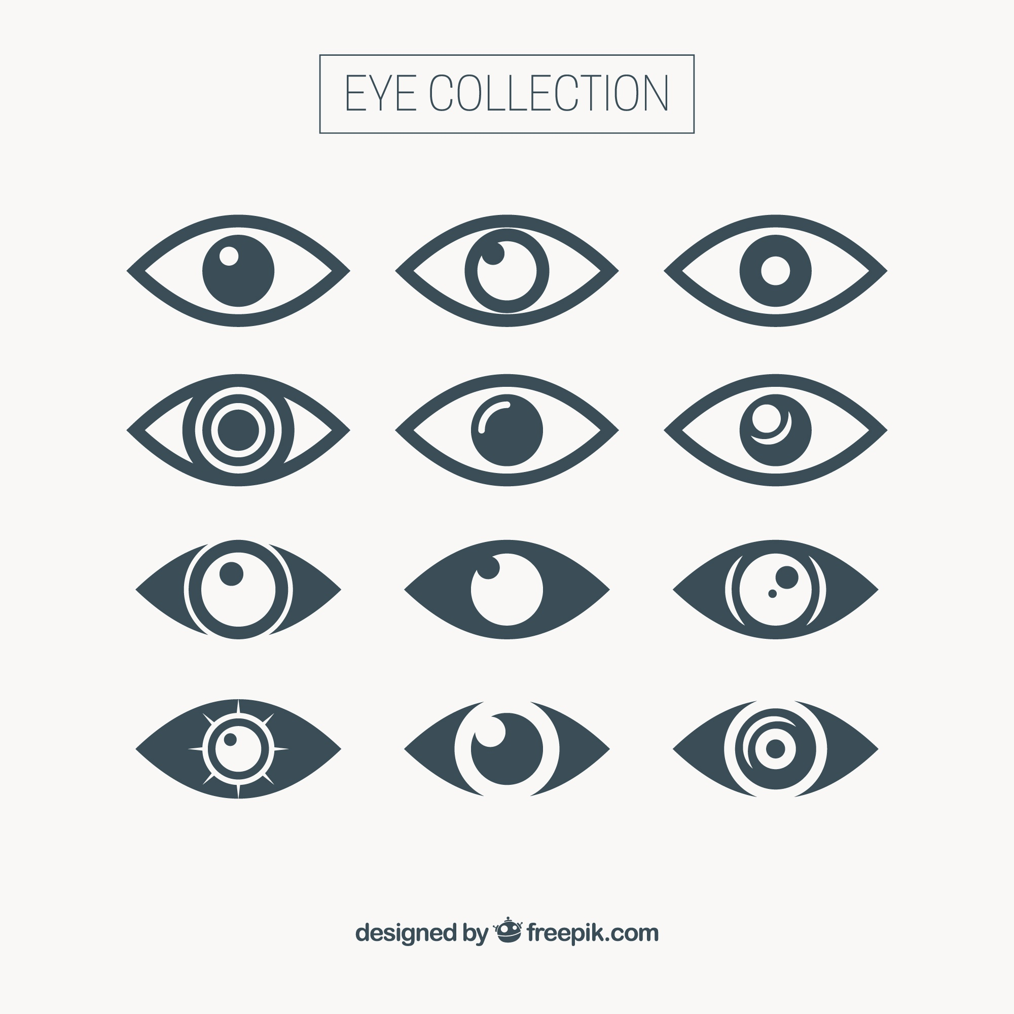 Abstract eye collection