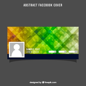 Abstract facebook cover with bokeh effect