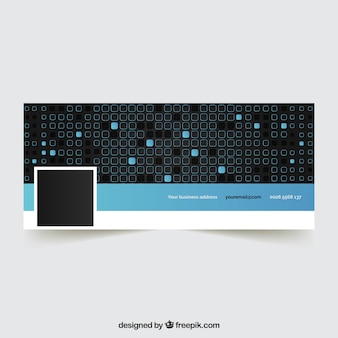 Abstract facebook cover with squares