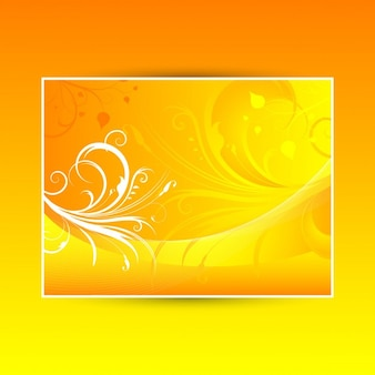 Abstract floral background using warm summer colours