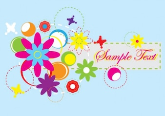 abstract flowers banner