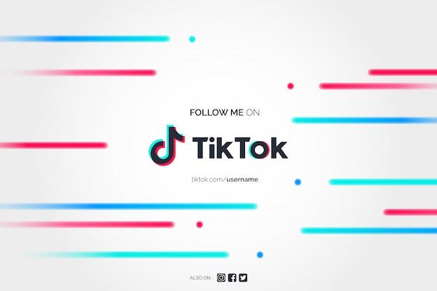 Abstract follow me on tik tok background