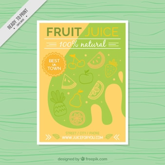 Abstract fruit juices flyer