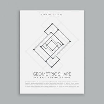 Abstract futuristic geometric shape