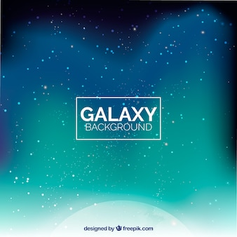 Abstract galaxy background in green tones