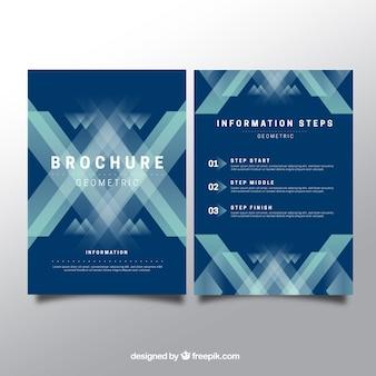 抽象的な幾何学的なパンフレット