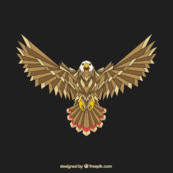 Abstract geometric eagle