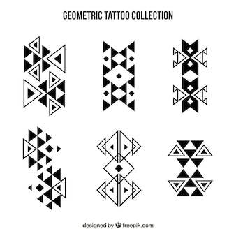 Abstract geometric shapes tattoo collection