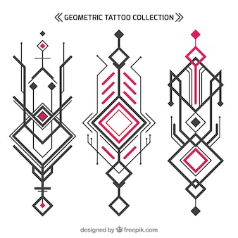 Abstract geometric tattoo collection