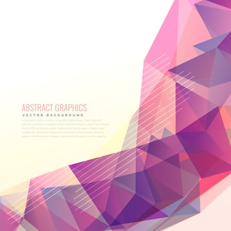 Abstract geometrical triangle background