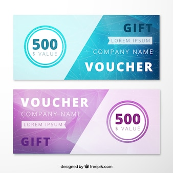 Abstract Gift Voucher Pack