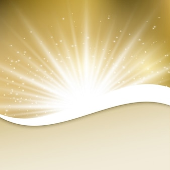 Abstract golden background with lights