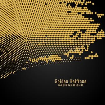 抽象的な金色の点線の背景