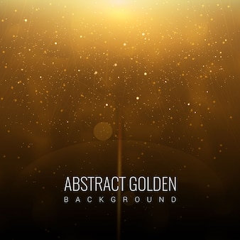Abstract Golden Galaxy Background