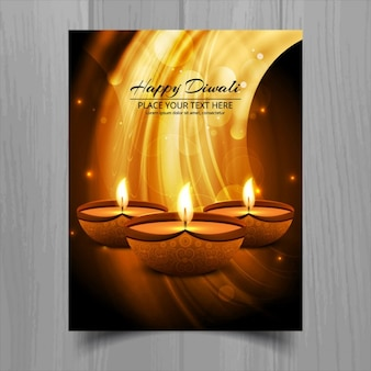 Abstract golden greeting card of diwali