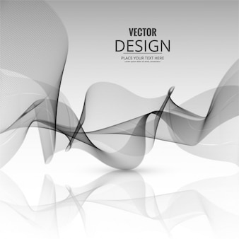 Abstract gray background with wavy shapes