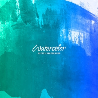 Abstract green and blue watercolor background