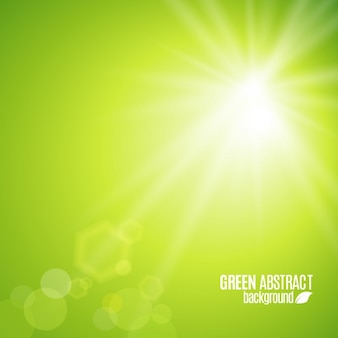Abstract green background with rays