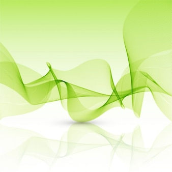 Abstract green background with wavy shapes