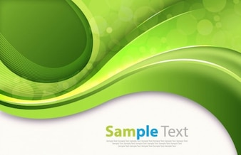 abstract green curves vector image