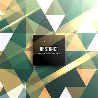 抽象的なヴィンテージ光沢のある幾何学的三角形の背景