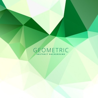 Abstract green low poly background