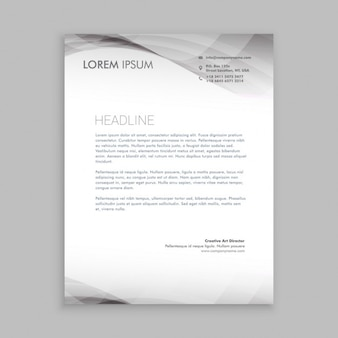 Abstract grey business letterhead