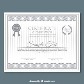 Abstract grey shapes certificate